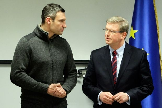 Füle and leaders of Ukrainian opposition discuss issue on solving of political and economic crisis in Ukraine/ Photo UDAR