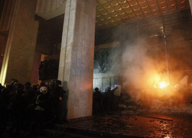После штурма в Украинском доме нашли боевые патроны