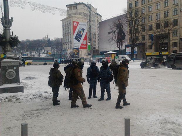 Снайперы на улицах Киева 11 декабря