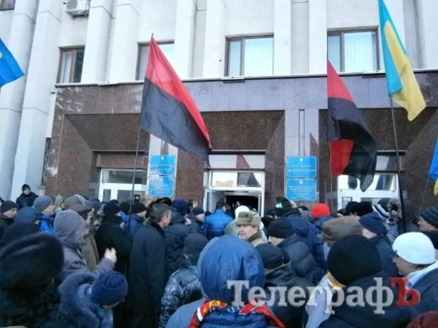 Активісти Майдану намагалися захопити мерію / telegraf.in.ua
