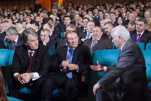 Kravchuk, Kuchma, Yushchenko arrive in Verkhovna Rada