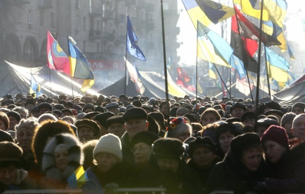 Number of tents at Maidan in Kyiv grows