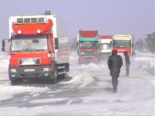 снег погода сугробы дорога фура зима