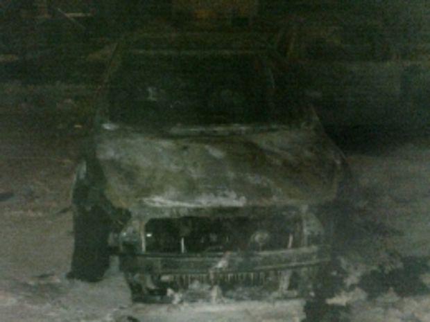 Один из сожженных автомобилей / ГСЧС