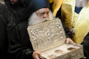 Игумен монастыря святого Павла архимандрит Парфений возглавляет греческую делегацию