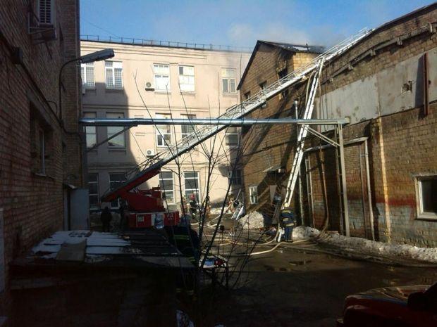 Пожар в Киеве на Подоле