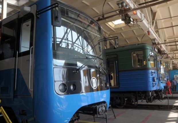 Новый поезд метро Крюковского вагоностроительного завода