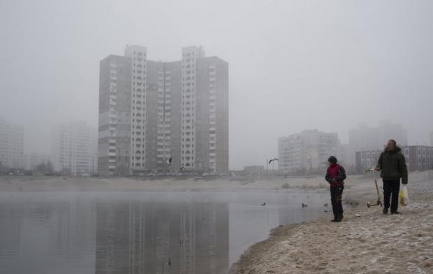 В Киеве с утра сильный туман / Фото УНИАН