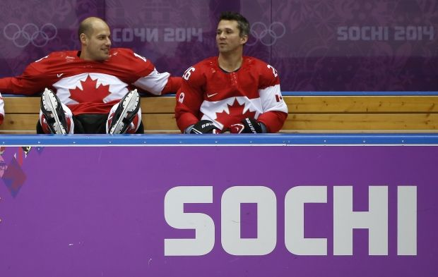 Райан Гетцлаф (слева) на тренировке сборной Канады / Reuters