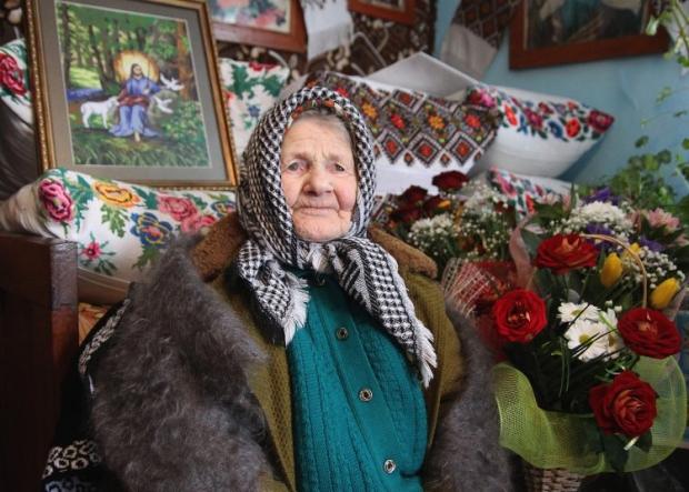Старейшая жительница Украины Екатерина Козак