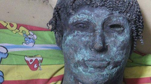 Голова статуи Аполлона, обнаруженной в Газе Фото: сайт Фонд Археология