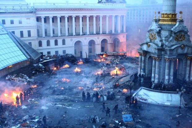 Територія Майдану випалена