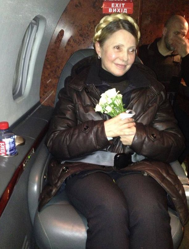 Тимошенко в самолете