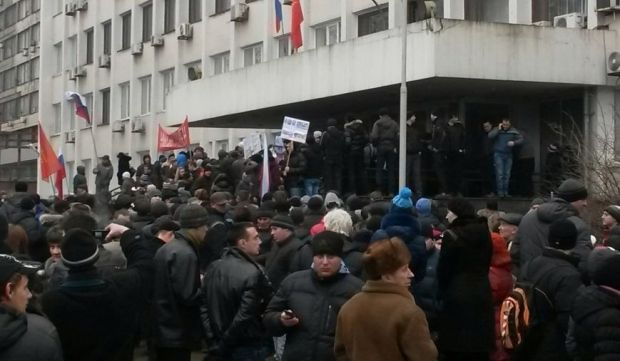 Несколько сотен митингующих не встретили противодействий милиции / 0629.com.ua