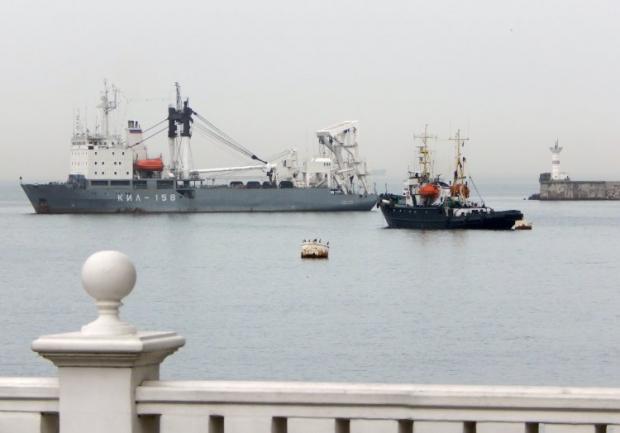 ЧФ РФ блокирует украинские корабли