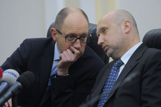 Tomorrow Yatsenyuk to come up with suggestion on support of anti corruption package – Turchynov / REUTERS