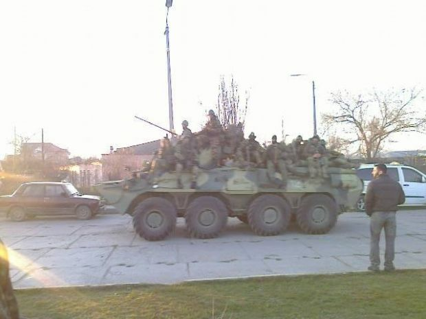 Russian occupants detain about 80 sea-soldiers from military unit in Feodosiya/Photo Facebook Seleznev