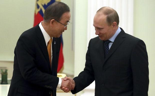 Путін запевнив Пан Гі Муна, що Москва не збирається воювати з Україною / REUTERS