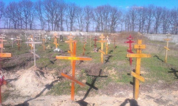 Бровары, кладбище, безымянные могилы / www.facebook.com