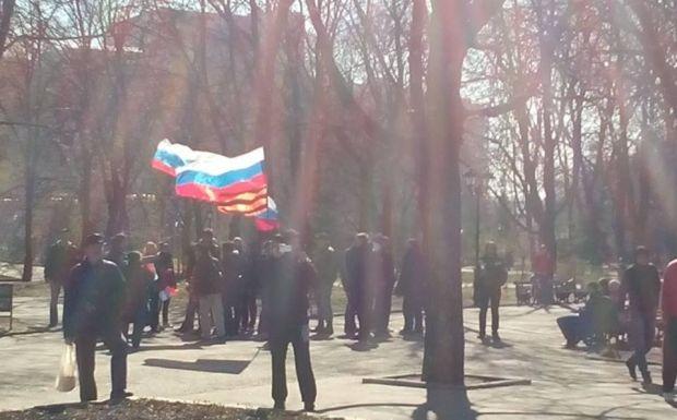 В Харькове произошла стычка между активистами Евромайдана и сепаратистами / Facebook/Владимир Чистилин