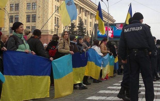 Митинг Евромайдана, фактически, разогнали / Facebook / Slava Mavrichev