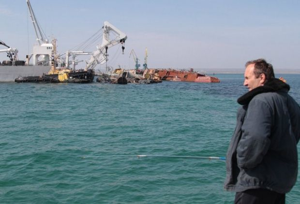 На Донузлаві залишаються українські судна / УНІАН