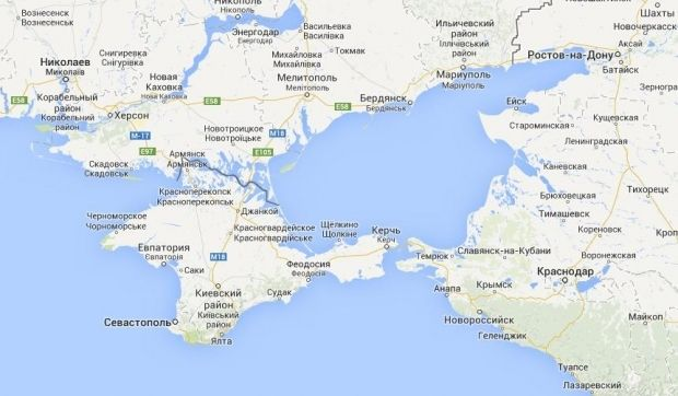 Россия сняла все ограничения на украинскую продукцию для Крыма / google.ru/maps