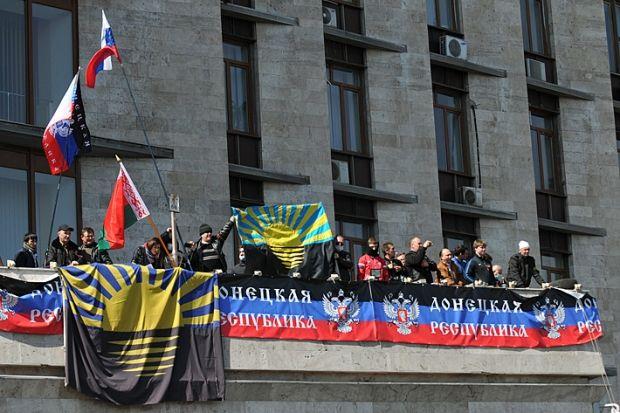 Сепаратисты в Донецке / Остров