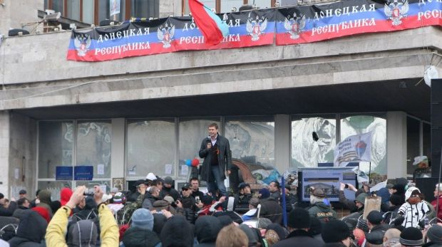 На фото - сепаратисткий митинг в Донецке / Олег Царев / facebook.com
