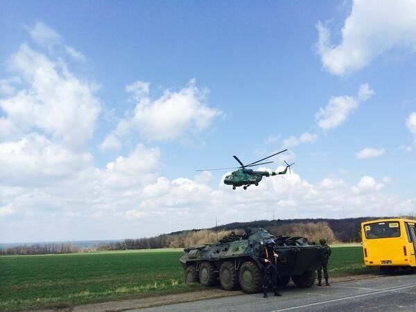 У Слов'янськ входять українські війська / Илья Варламов, Facebook