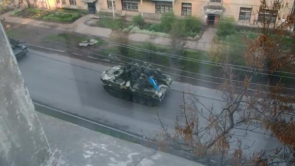 В Краматорске захватили украинские БТРы / @novostidnua