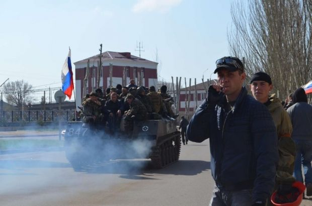 Armoured vehicles with Russian flags appeared in Kramatorsk/twitter.com/euromaidan/
