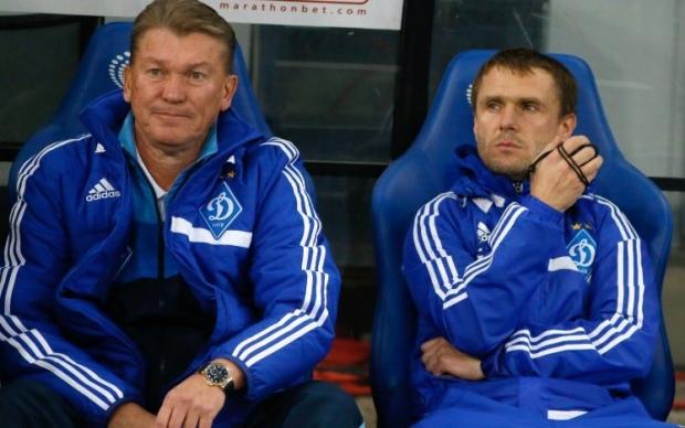 О том, что команду до конца сезона будет тренировать Ребров (справа) - официально неизвестно