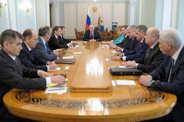 Путин и члены Совбеза РФ / kremlin.ru