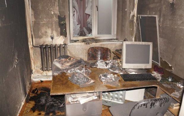 Офис редакции издания забросали