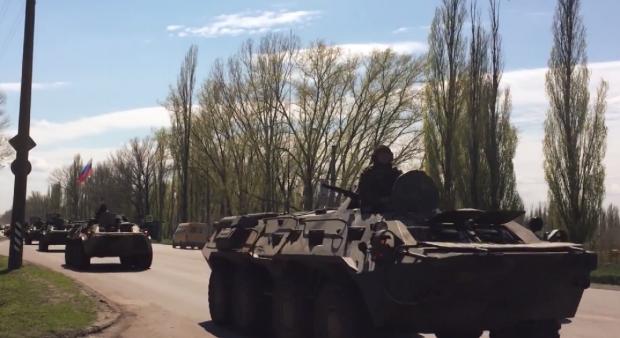 Российские БТР / Принтскрин из видео nesvetaytv