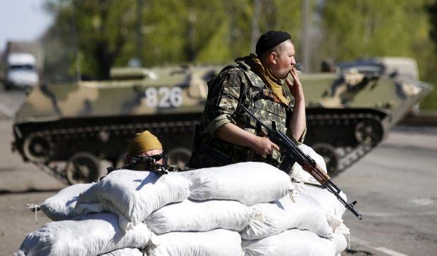 Въезды в Славянск заблокированы