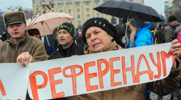 Создается впечатление, что в Украине референдума хотят буквально все