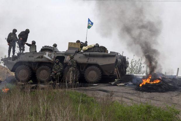 Под Славянском террористы расстреляли двух украинских военных