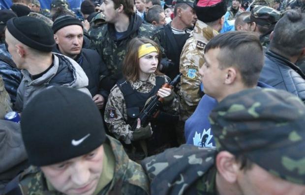 На Майдане готовы защитить ветеранов / Фото УНИАН