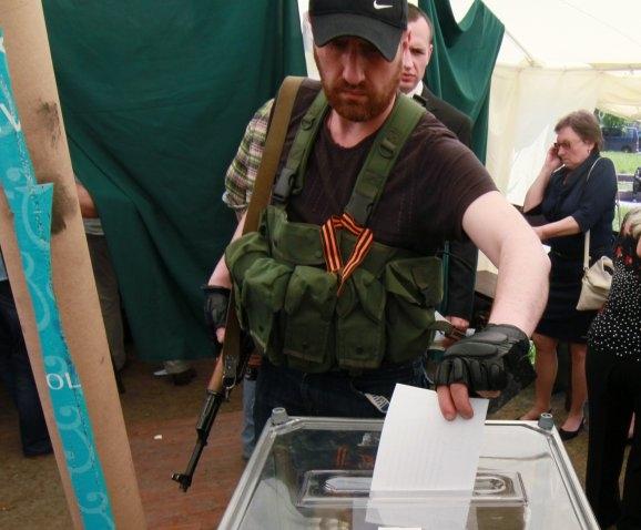 Люди, которые с помощью оружия организовывают референдумы, понесут ответственность