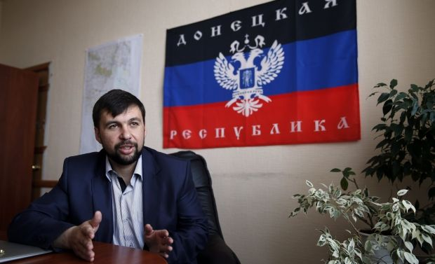 "Chief fighter of ""DPR"" Pushylin confirms getting 3 tanks from Russia / REUTERS"