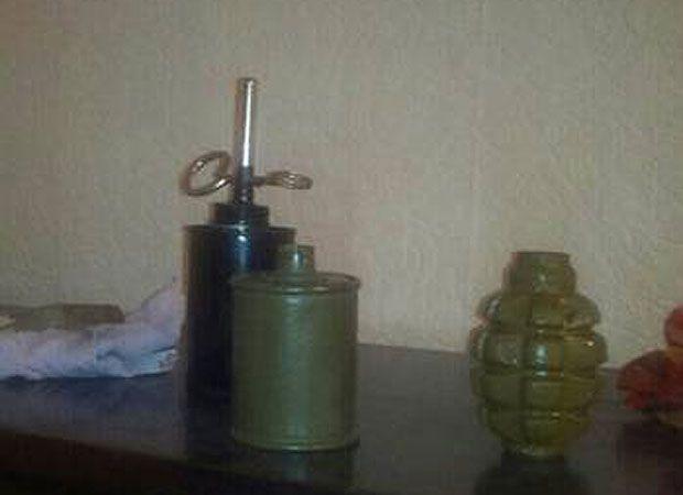 В «штабе» террористов обнаружили взрывчатку и огнестрельное оружие / сайт СБУ