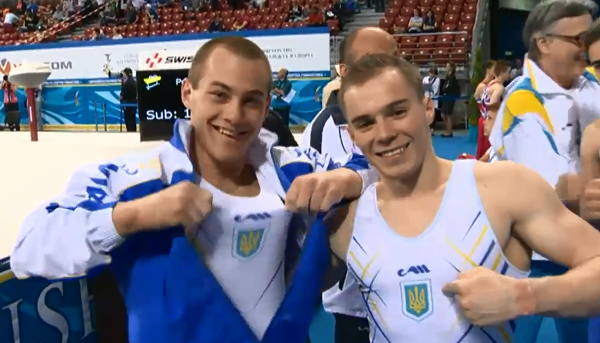 Олег Верняєв (ліворуч) у Софії здобув три медалі європейської першості  / noc-ukr.org