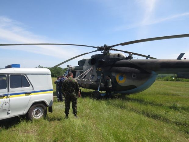 Fighters shoot down one more helicopter of ATO near Slaviansk/Photo by Arkadiy Babchenko