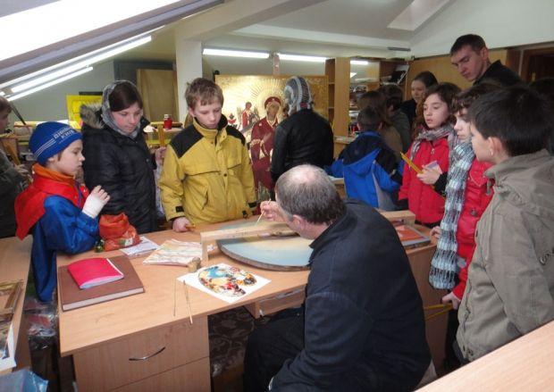 Екскурсія по Лаврі для дитячого будинку «Малятко». Відвідування монастирських майстерень.