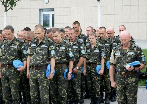 Украинские миротворцы почтили погибших во время АТО