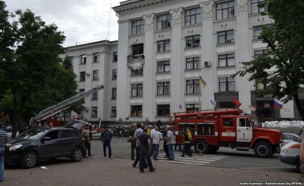 Spokesman for ATO: Luhansk ATO was blown up on inside / Radio Svoboda