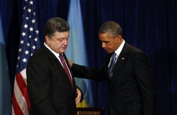 Президент США Барак Обама выразил свою поддержку новому украинскому президенту Петру Порошенко / REUTERS