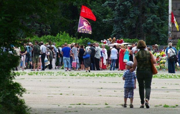 В Одесі Антимайдан провів мітинг і ходу, попри заборону суду / dumskaya.net